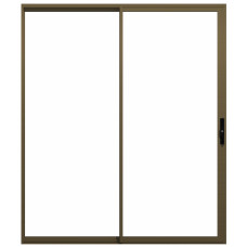 ALUMINIUM DOOR SLIDDING BRONZE 1500X2100