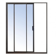 ALUMINIUM DOOR SLIDDING BRONZE 2400X2100