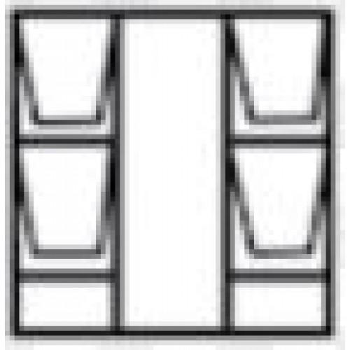 WINDOW FRAME STEEL TD 51S51S F7