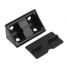 BRACKET DOUBLE WITH LID BLACK
