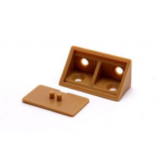 BRACKET DOUBLE WITH LID BROWN PER 100