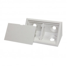 BRACKET DOUBLE WITH LID WHITE PER100