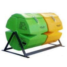 COMPOST TUMBLER MED DOUBLE(GREEN- BROWN)